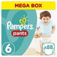 Pampers kalhotkové plenky Mega Box S6 88 ks