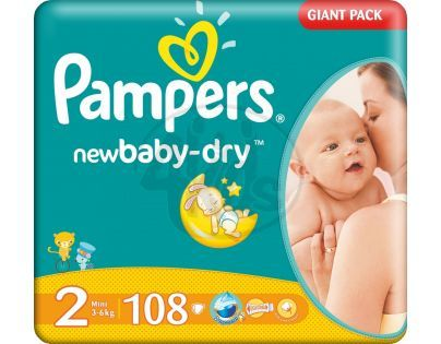 Pampers New Baby 2 Mini 108ks