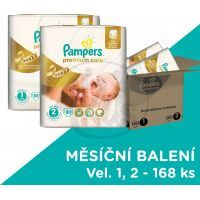 Pampers Premium Care 1+2 168 ks
