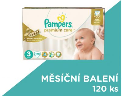 Pampers Premium Care 3 Midi 120ks