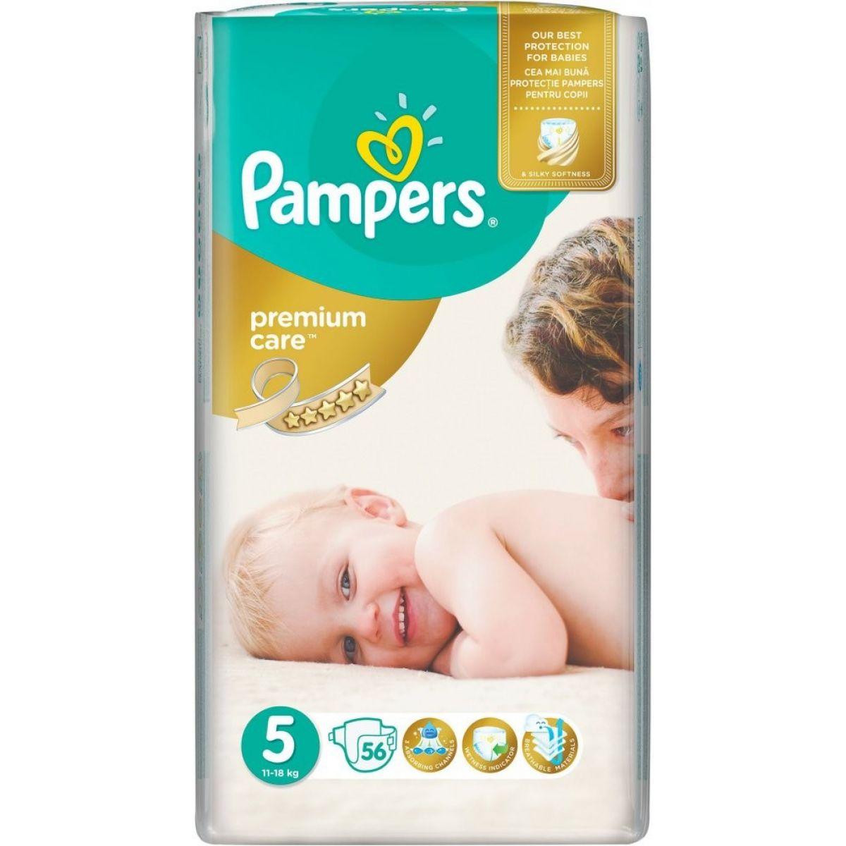 Pampers Premium Care 5 Junior 56ks - Poškozený obal