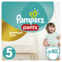 Pampers Premium kalhotkové plenky Value Pack S5 40 ks