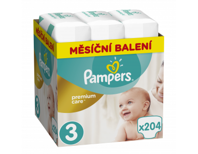 Pampers Premium Care 3 MIDI 204ks 5-9 kg