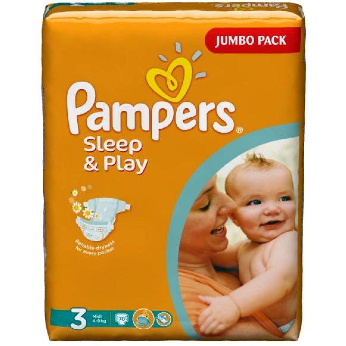 Pampers Sleep&Play 3 Midi 78ks