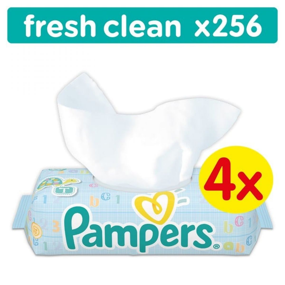 Pampers Ubrousky Baby Fresh Clean 4 x 64ks