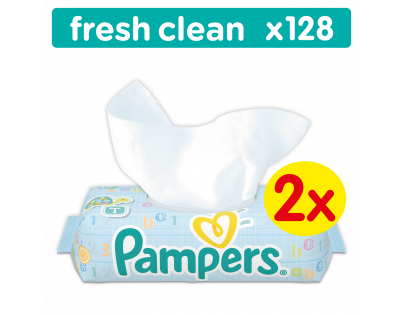 Pampers ubrousky Fresh Clean 2 x 64 ks
