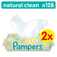 Pampers ubrousky Natural Clean 2 x 64 ks