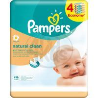 Pampers Ubrousky Natural Clean 4 x 64ks