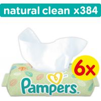 Pampers Ubrousky Natural Clean 6x64ks