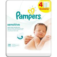 Pampers Ubrousky Sensitive 4 x 56ks