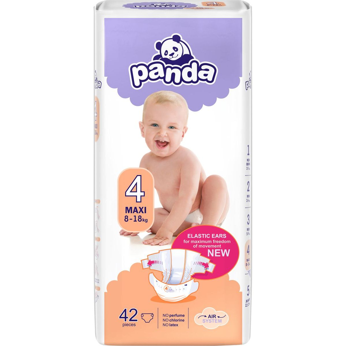 Panda dětské plenky Maxi á 42 ks