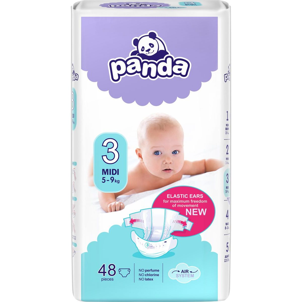 Panda dětské plenky Midi á 48 ks