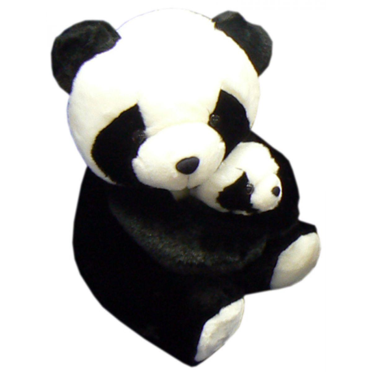 Panda s mládětem plyšová 33cm