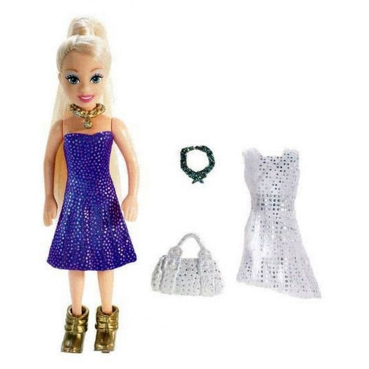 Polly Pocket L9869 - Panenka Polly Pocket s taštičkou a náhradními oblečky