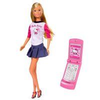 Panenka Steffi Hello Kitty s mobilním telefonem modrá sukně