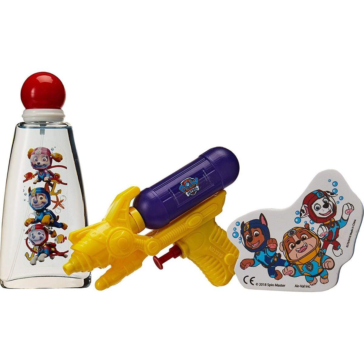 EP Line kosmetika Paw Patrol dárková sada EDT 100 ml s vodní pistolí a terčem