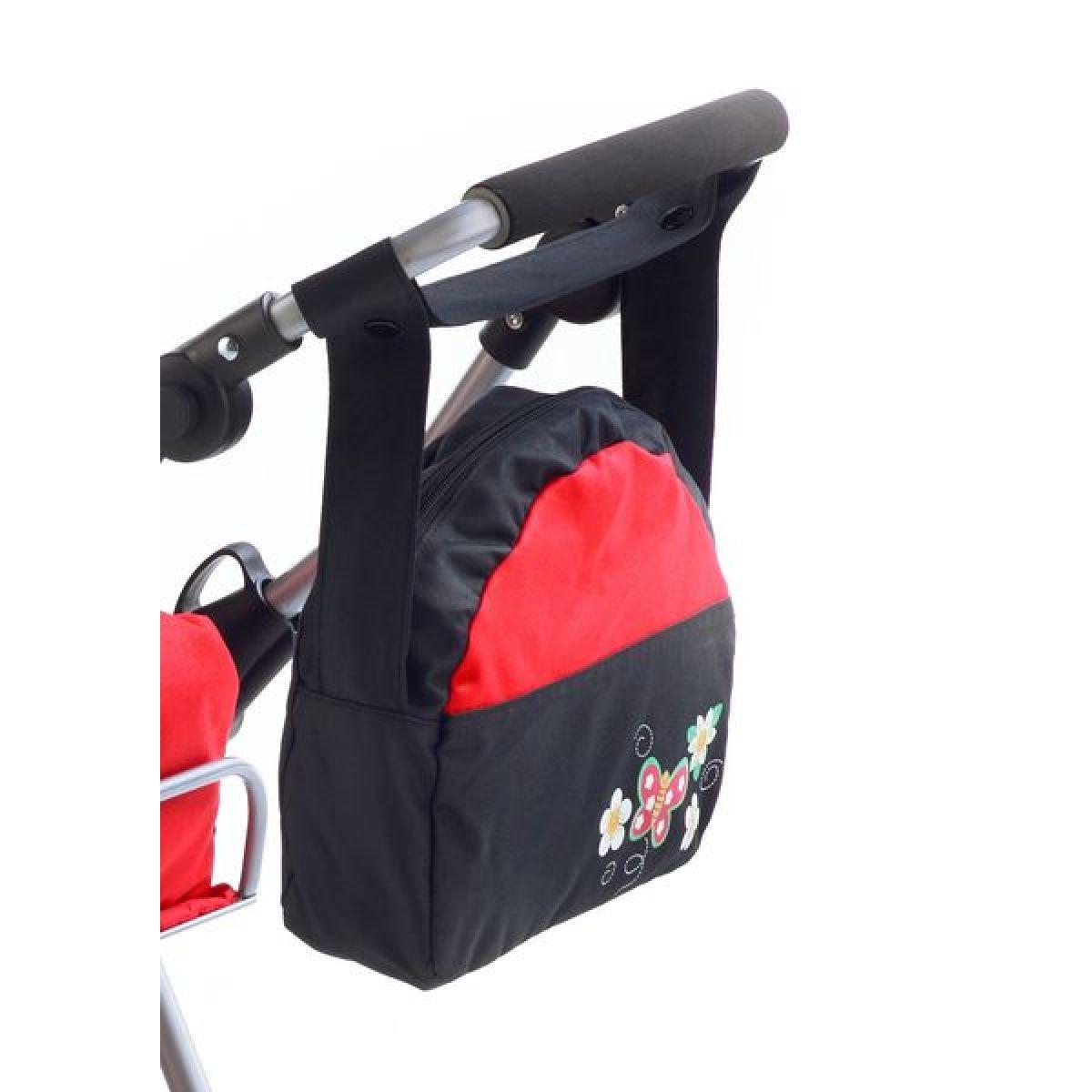 BAYER CHIC 2000 - 85323 - Přebalovací taška ke kočárku pro panenky - Classic line Rot