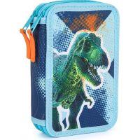 Karton P+P Penál dvoupatrový prázdný Premium Dinosaurus