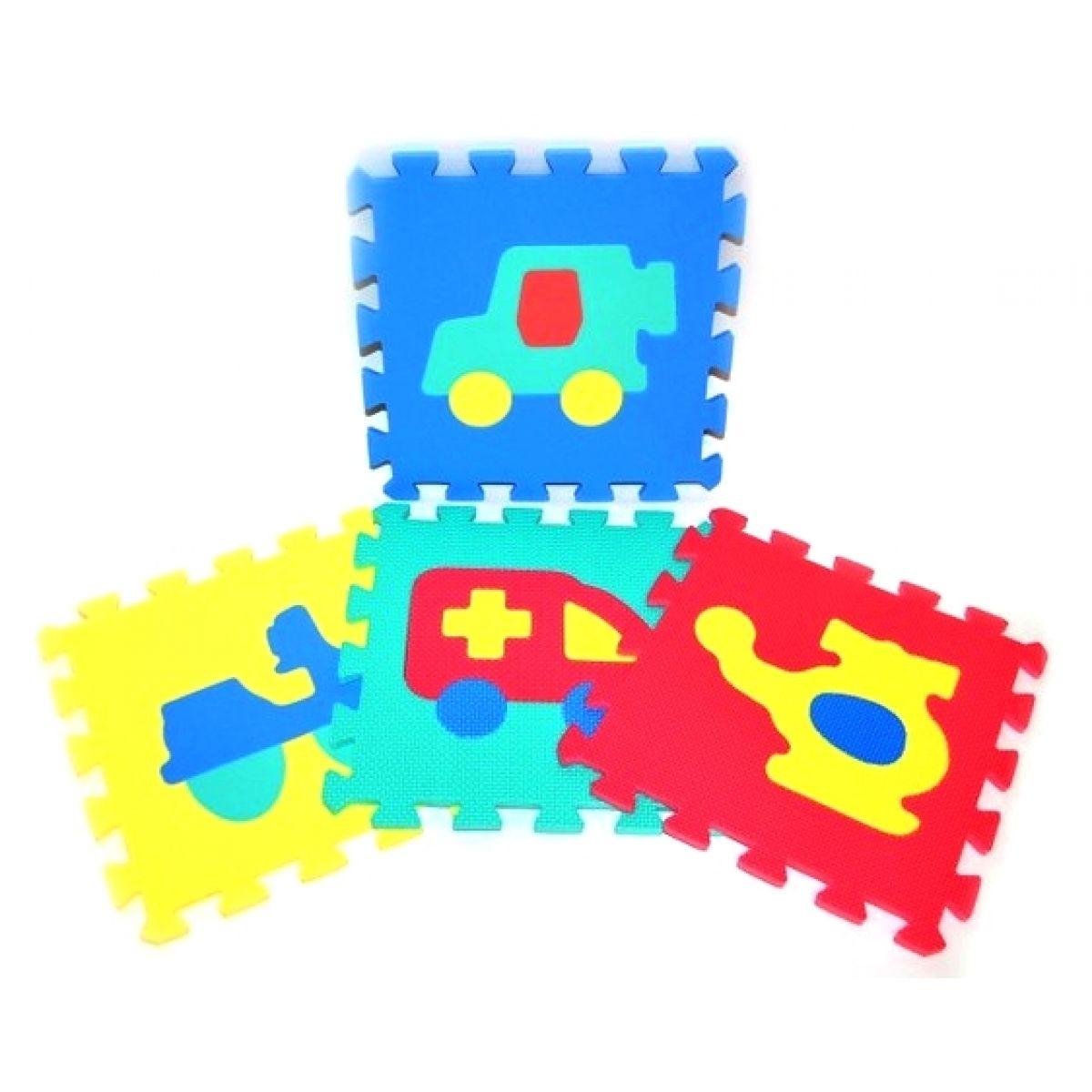 Pěnové puzzle Dopravní prostředky 10ks - Poškozený obal