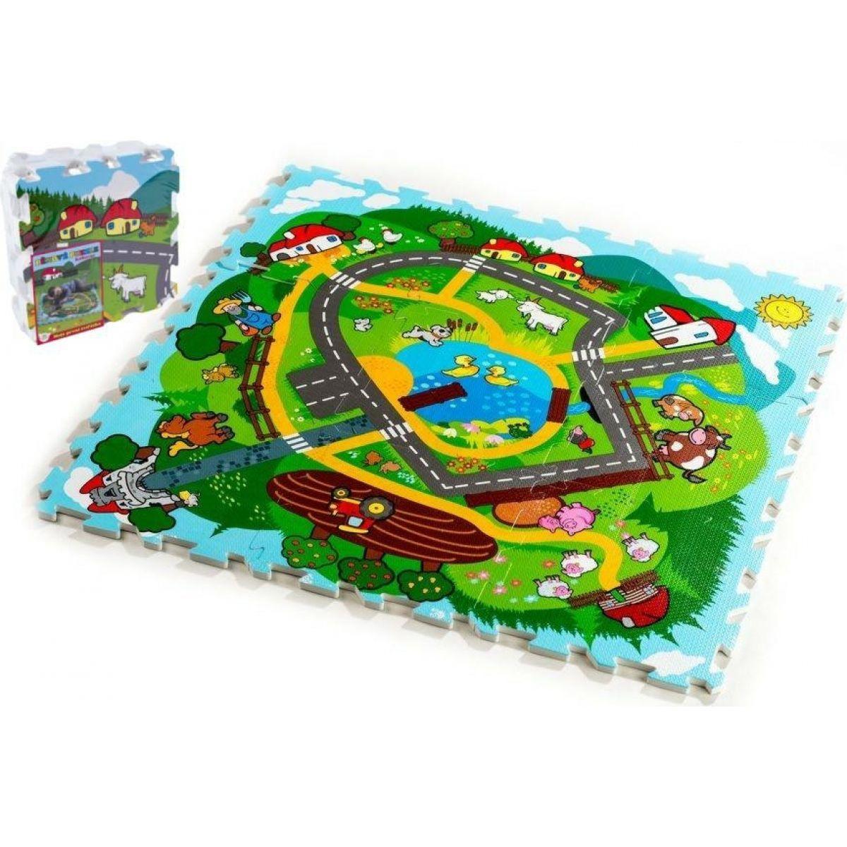 Teddies Pěnové puzzle Město Moje první zvířátka MPZ 30x30x1 2cm 9 ks