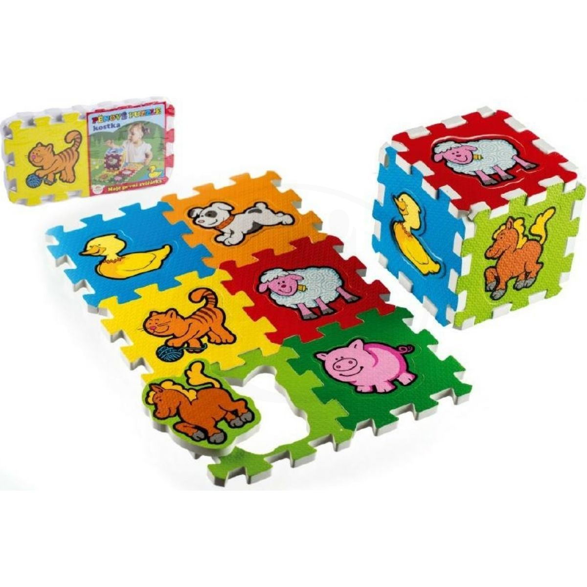 Teddies Pěnové puzzle Moje první zvířátka 15x15x1 2cm MPZ 6 ks