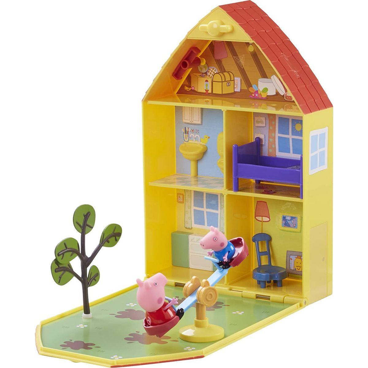 Peppa Pig domček so záhradkou, figúrkou a príslušenstvom