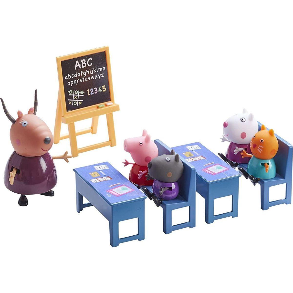 Peppa Pig školská trieda 5 figúrok