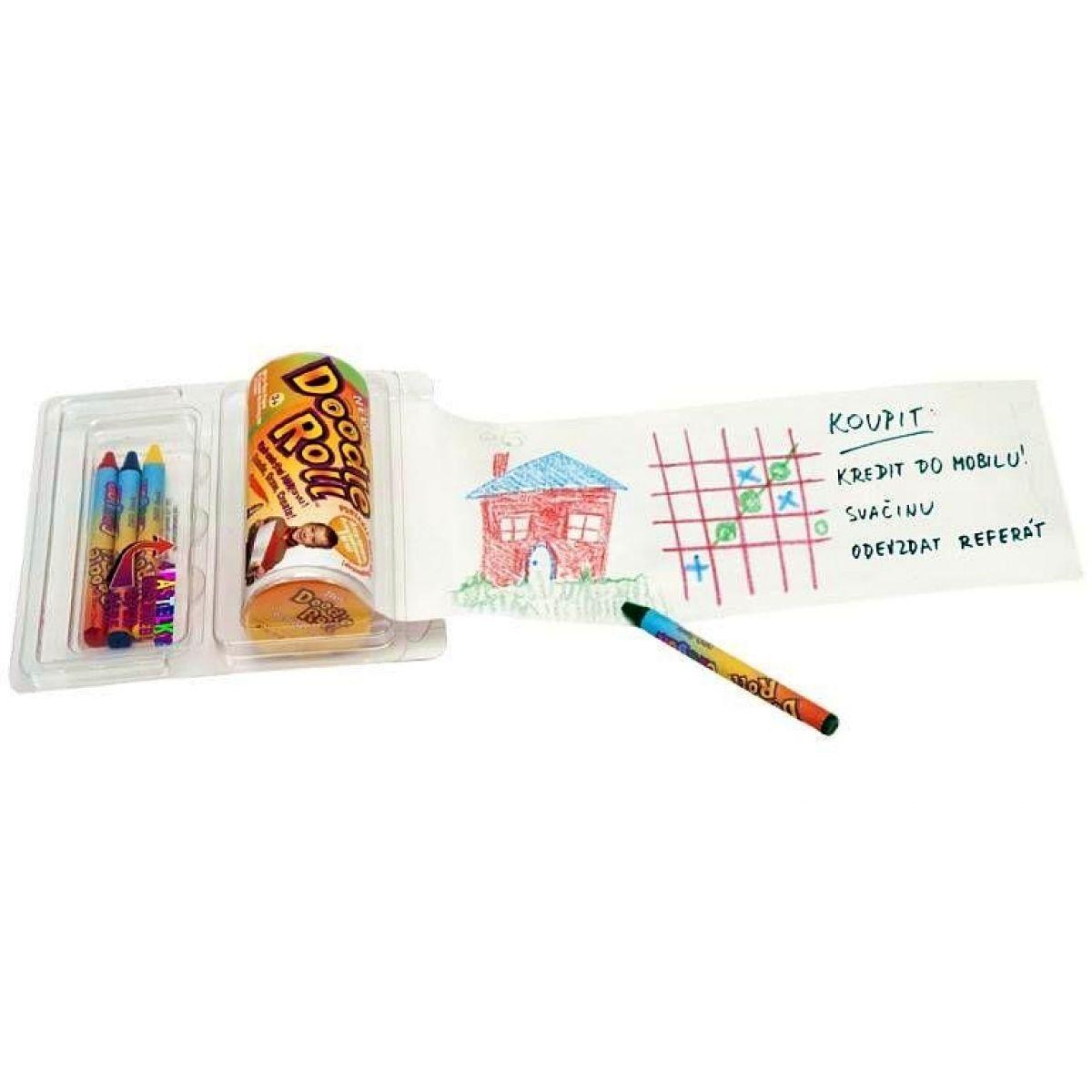 Doodle roll Kreativní sada s pastelkami 4 ks