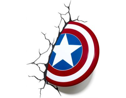 Philips Avengers 3D světlo na zeď Štít Capitain America