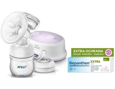 Philips Avent Elektronická odsávačka Natural se zásobníkem 125 ml a dárek