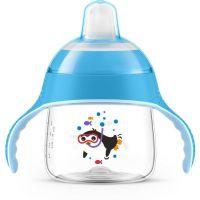 Philips Avent Hrneček pro první doušky Premium 200 ml modrý