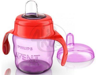 Philips Avent Hrneček pro první doušky Classic 200 ml - Červeno-fialová
