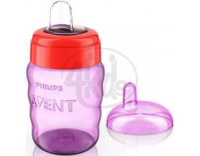 Philips Avent Hrneček pro první doušky Classic 260 ml - Červeno-fialová