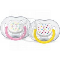 Philips Avent Šidítka Sensitive Fantazie 6 -18m 2ks - Růžová a žlutá