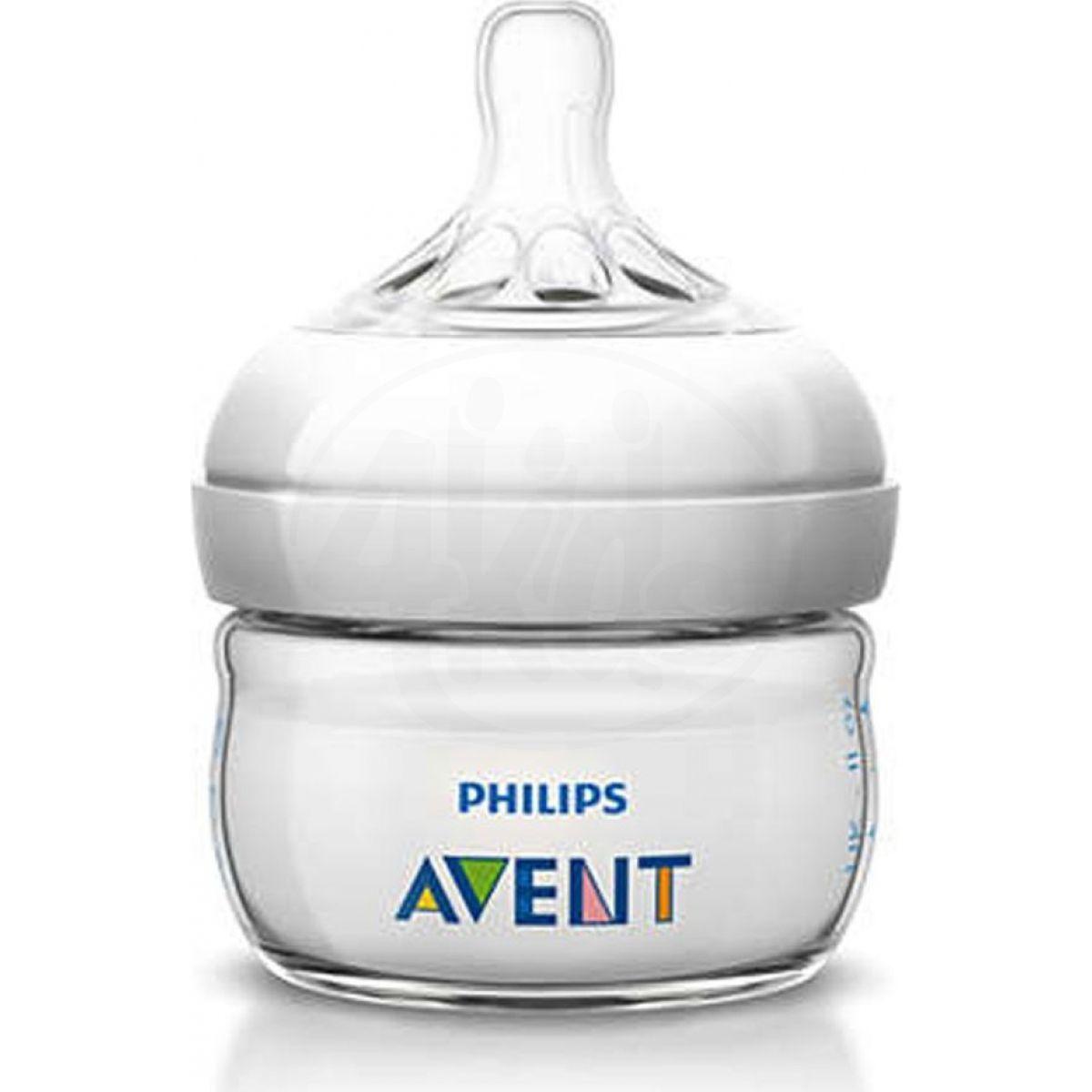 Philips Avent láhev Natural PP 60 ml průhlédná bílá 1 ks