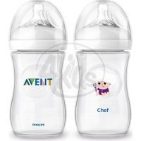Philips Avent Láhev Natural 260 ml a Kuchař 260 ml