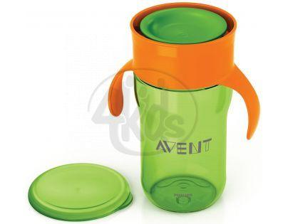 Philips Avent První skutečný hrneček 340 ml - Zeleno-oranžová