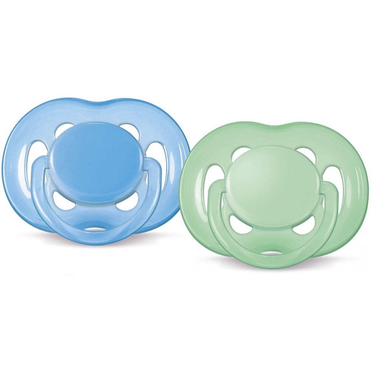 Philips Avent Šidítka Sensitive 6 - 18m 2ks - Modrá a zelená