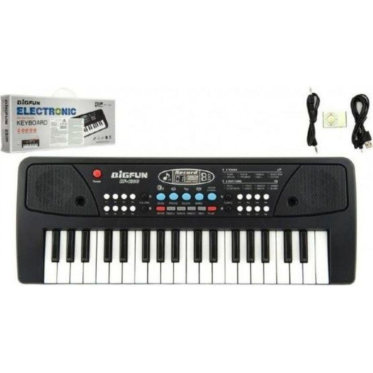 Pianko 37 kláves s mikrofónom + prehrávač MP3 5V