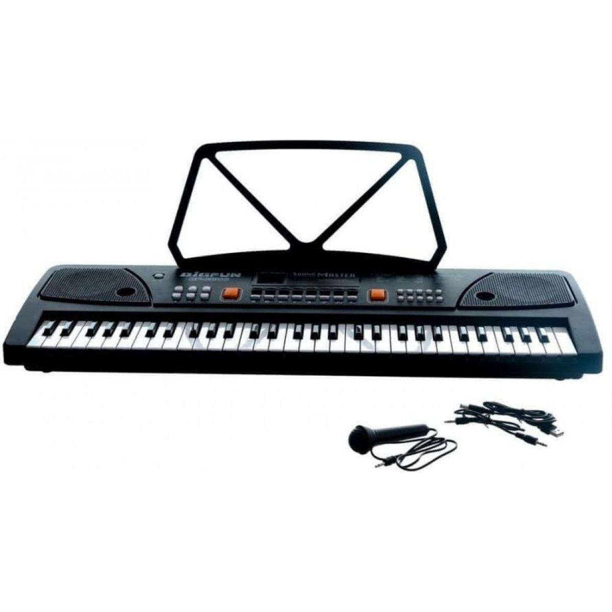 Pianko 61 kláves s mikrofonem a USB na nabíjecí baterie Li-ion