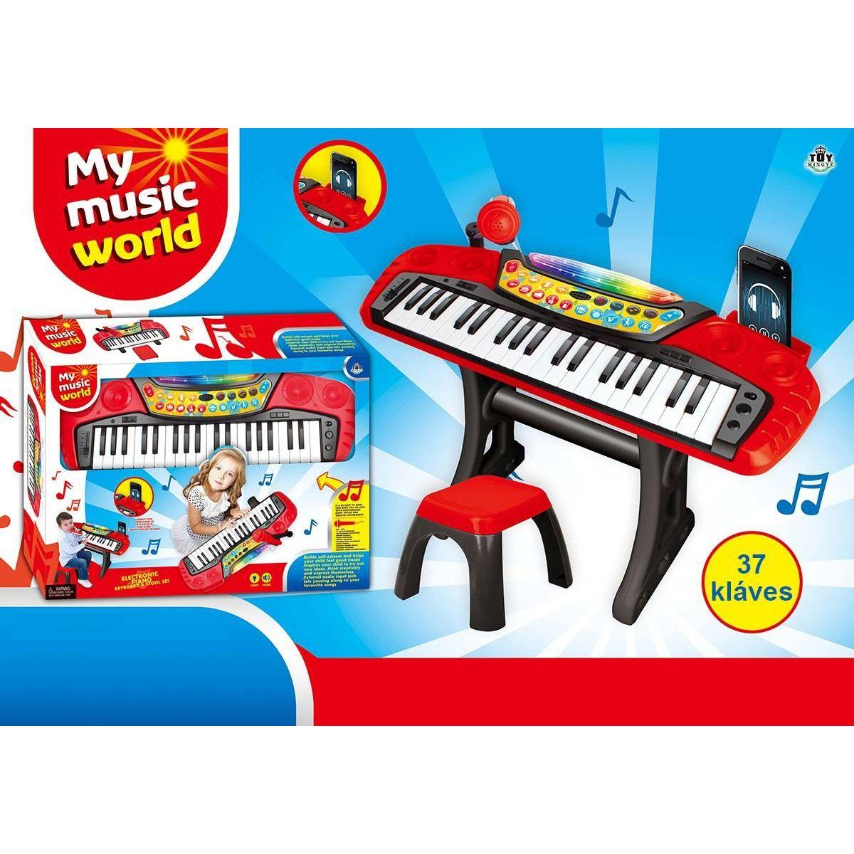 Piáno elektronické 37 klávesov sa stoličkou
