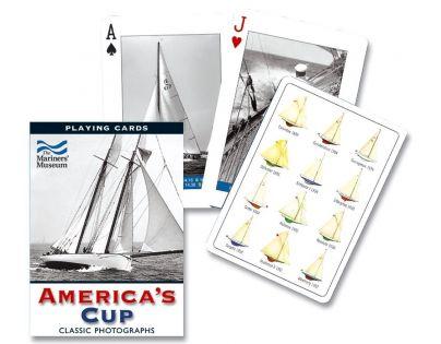Piatnik Karty Poker Plachetnice America s Cup