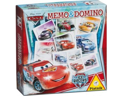 Piatnik Pexeso a Domino Cars Ice Racers