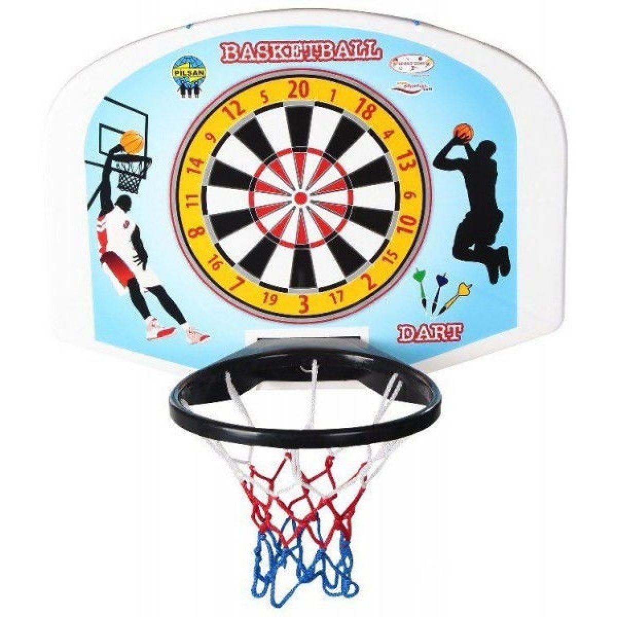 Pilsan Deska Basket s terčem na šipky Modrá