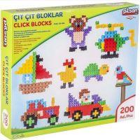 Pilsan Toys stavebnice Click Blocks 200 ks