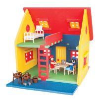 Pilsan Toys Stavebnice Poly mini domeček