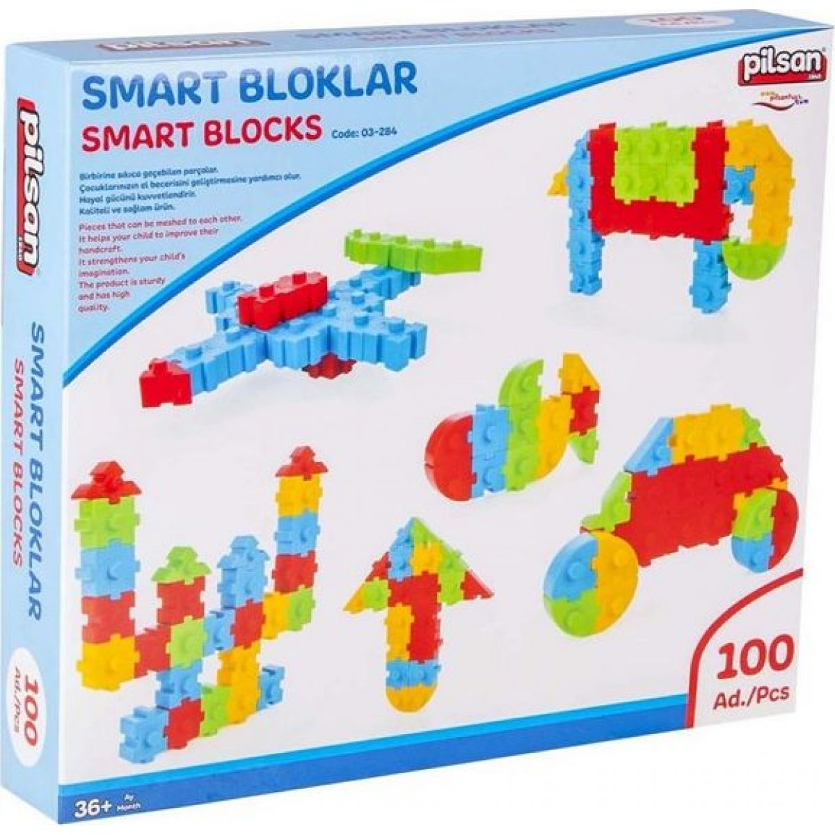 Pilsan Toys stavebnice Smart Blocks 100 ks
