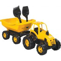 Pilsan traktor s vozíkem