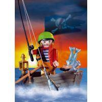 Pirát se člunem Playmobil