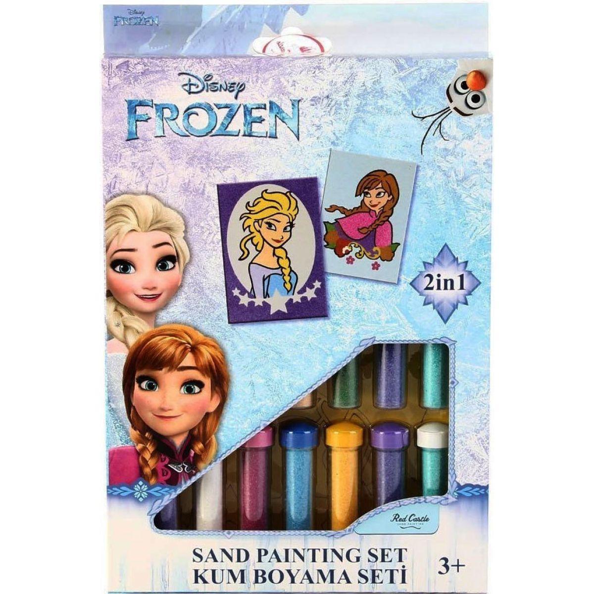 Hama Pískování obrázků 2 v 1 Ledové království Elsa a Anna